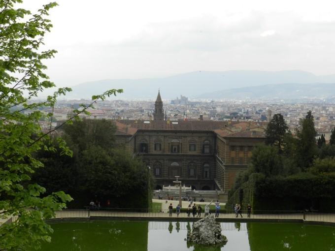 Razgled na Firence iz vrtov Boboli