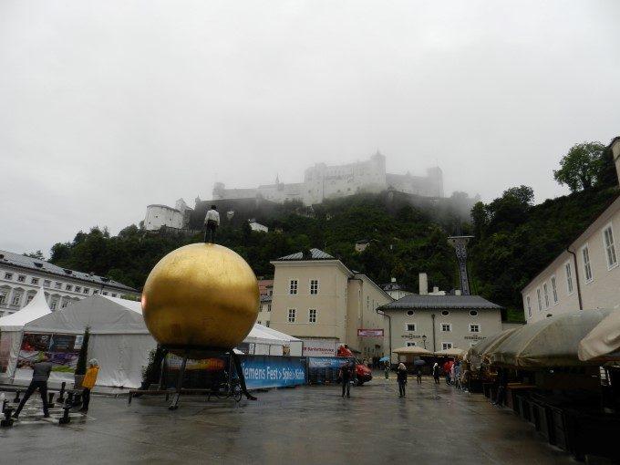 pogled na trdnjavo Hohensalzburg